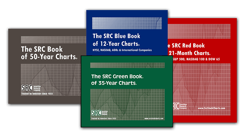 Stock chart books with fundamental stock market data